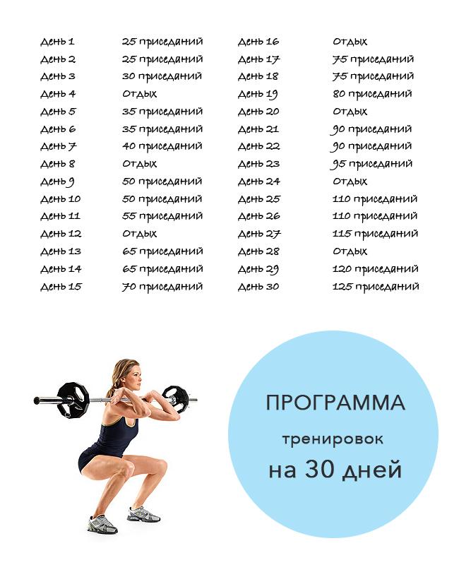программа тренировок для похудения зале видео